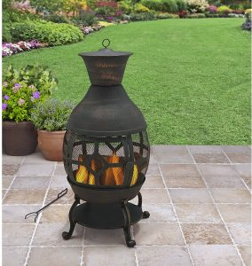 B H & G C0. Better Homes and Gardens Antique Bronze Cast Iron Chiminea