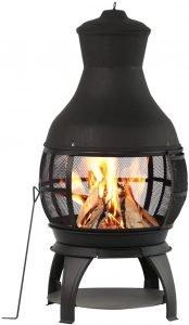 BALI OUTDOORS Outdoor Fireplace Wooden Fire Pit, Chimenea