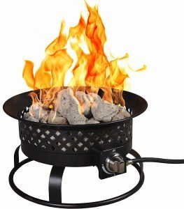 Bond Manufacturing 67836 54,000 BTU Aurora Camping Carry Handle Portable Steel Propane Gas Fire Pit